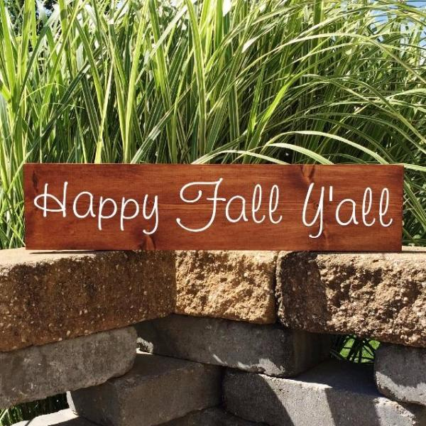Happy Fall Yall Wood Sign