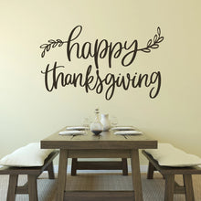 Load image into Gallery viewer, Happy Thanksgiving Vinyl Wall Decal Brown