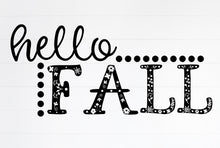 Load image into Gallery viewer, Hello Fall Vinyl Wall Decal Black