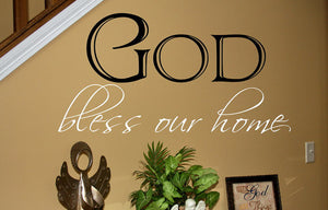 God Bless Our Home Two Layer Vinyl Wall Decal 22058 - Cuttin' Up Custom Die Cuts - 3