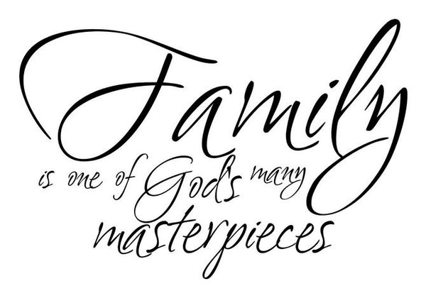 Family Is One of God's Many Masterpieces Vinyl Wall Decal 22081 - Cuttin' Up Custom Die Cuts - 2