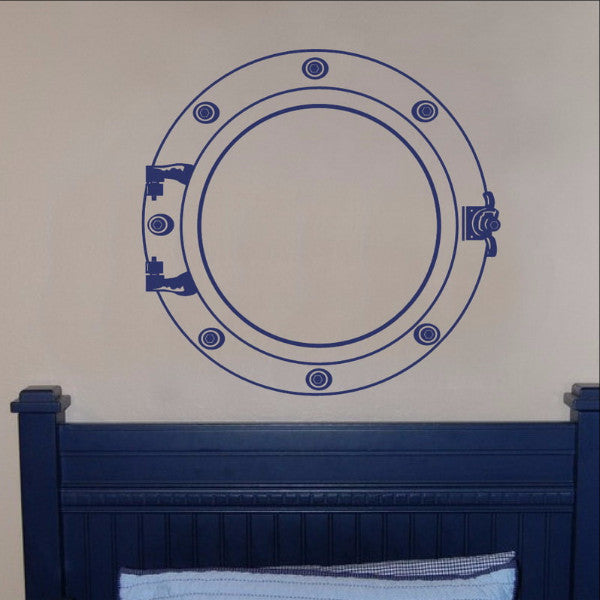 Porthole Nautical Vinyl Wall Decal  22094 - Cuttin' Up Custom Die Cuts - 1