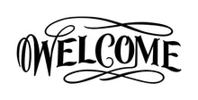 Load image into Gallery viewer, Welcome Vinyl Door Decal 22014 - Cuttin' Up Custom Die Cuts - 2