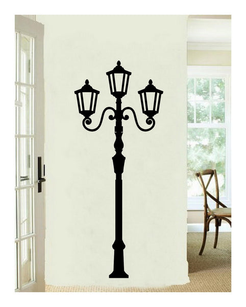 Lamp Light Post Tall Vinyl Wall Decal  22115 - Cuttin' Up Custom Die Cuts - 3
