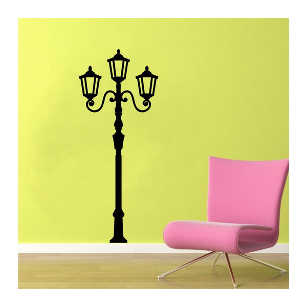 Lamp Light Post Tall Vinyl Wall Decal  22115 - Cuttin' Up Custom Die Cuts - 2