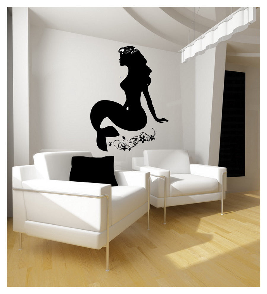 Large Mermaid Wall Decal 22124 - Cuttin' Up Custom Die Cuts - 1