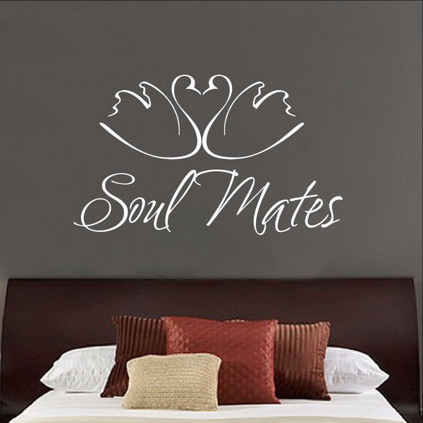 Soul Mates Swans Vinyl Wall Decal 22146 - Cuttin' Up Custom Die Cuts - 1