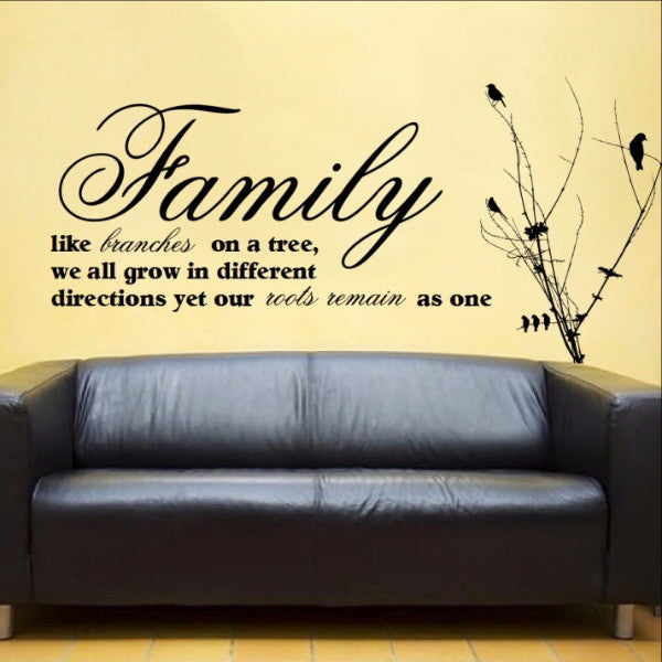 Family Like Branches On a Tree Vinyl Wall Decal 22164 - Cuttin' Up Custom Die Cuts - 1
