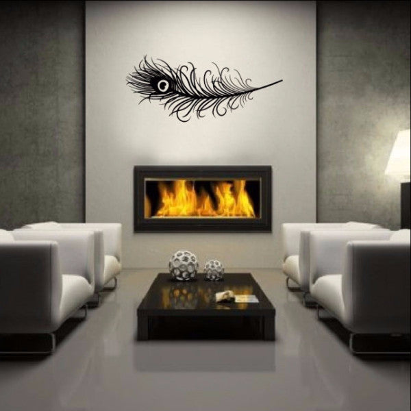Peacock Feather Vinyl Wall Decal  22167 - Cuttin' Up Custom Die Cuts - 1
