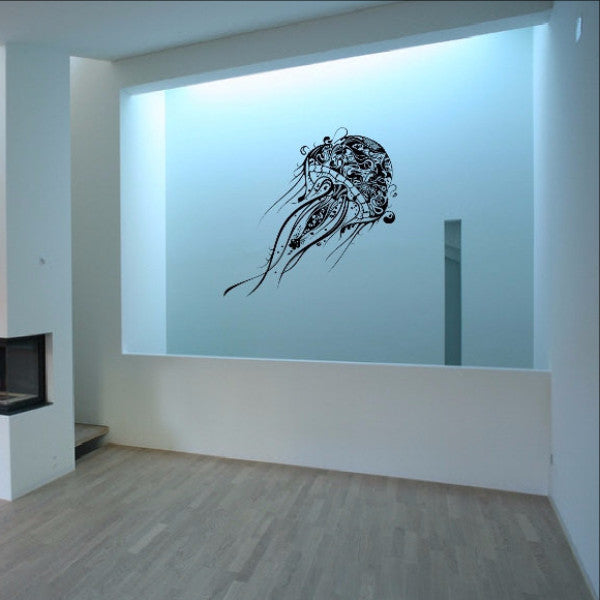 Abstract Jellyfish Vinyl Wall Decal 22085 - Cuttin' Up Custom Die Cuts - 1