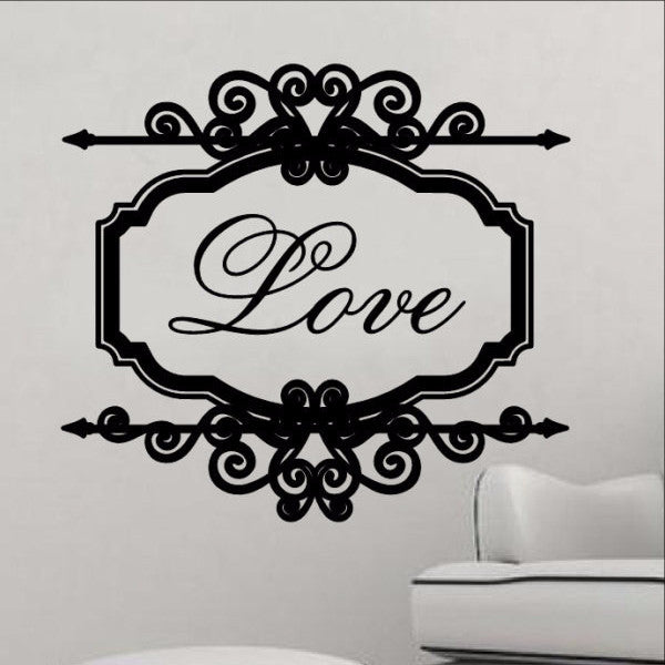 Love Vintage Look Sign Frame Vinyl Wall Decal 22199 - Cuttin' Up Custom Die Cuts - 1