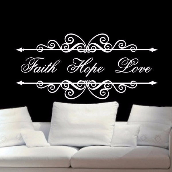 Christian Wall Decal Faith Hope Love 22200 - Cuttin' Up Custom Die Cuts - 1