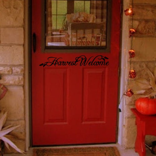Harvest Welcome Vinyl Door Decal 22204 - Cuttin' Up Custom Die Cuts - 1
