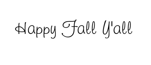 Happy Fall Yall Removable Vinyl Door Decal 22205 - Cuttin' Up Custom Die Cuts - 2