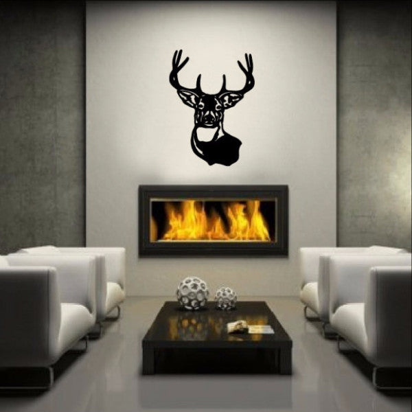 Deer Head Vinyl Wall Decal 22219 - Cuttin' Up Custom Die Cuts - 1