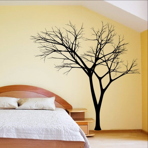 Winter Tree Decal - Bare Tree Style 3 Large Mural Vinyl Wall Decal 22222 - Cuttin' Up Custom Die Cuts - 1