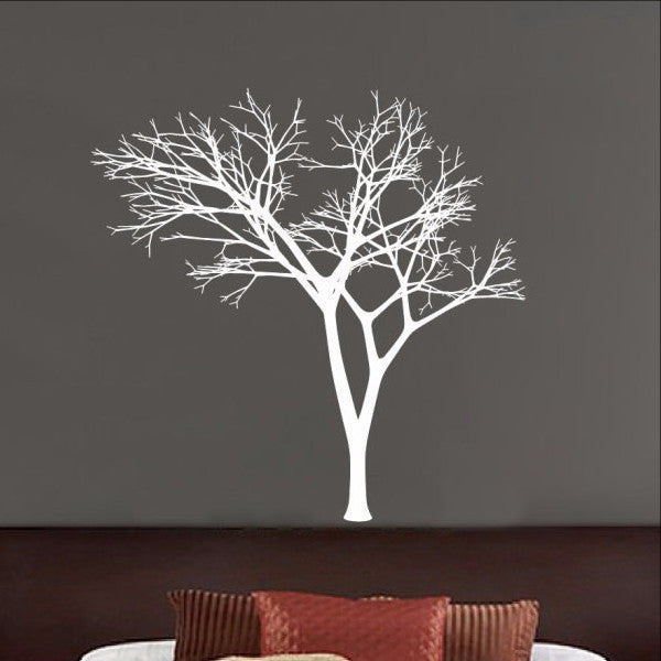 Winter Tree Decal - Bare Tree Style 3 Vinyl Wall Decal 22225 - Cuttin' Up Custom Die Cuts - 1