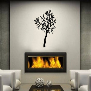 Winter Tree Style A Vinyl Wall Decal  22226 - Cuttin' Up Custom Die Cuts - 1