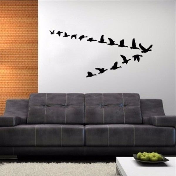 Geese in Flight Vinyl Wall Decal 22227 - Cuttin' Up Custom Die Cuts - 1