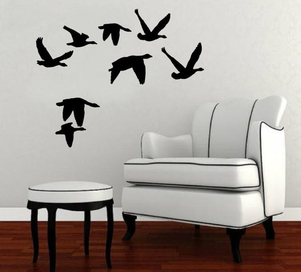 Flying Geese Style 2 Vinyl Wall Decal 22228 - Cuttin' Up Custom Die Cuts - 2