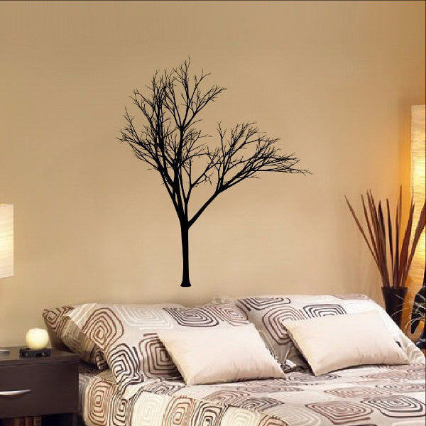 Winter Tree Style B Vinyl Wall Decal 22232 - Cuttin' Up Custom Die Cuts - 1