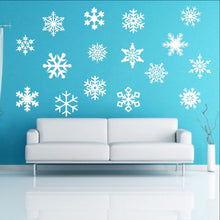 Load image into Gallery viewer, Snowflakes Removable Vinyl Wall Decals Set 22234 - Cuttin' Up Custom Die Cuts - 1