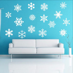 Snowflakes Removable Vinyl Wall Decals Set 22234 - Cuttin' Up Custom Die Cuts - 1