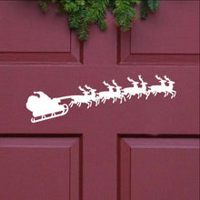 Load image into Gallery viewer, Santa and Sleigh Christmas Removable Vinyl Door Decal 22240 - Cuttin' Up Custom Die Cuts - 1