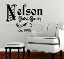 Load image into Gallery viewer, Ornate Family Name Vinyl Decal with Established Year Vinyl Wall Decal Name Style 1 22257 - Cuttin' Up Custom Die Cuts - 2
