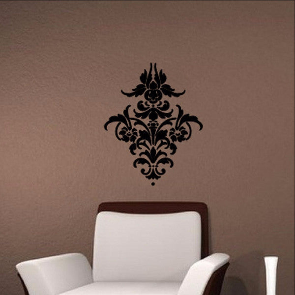 "Damask Pattern A Vinyl Wall Decal 18""W x22""H 22252 - Cuttin' Up Custom Die Cuts - 1"