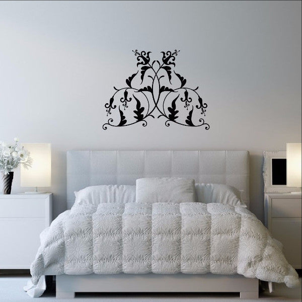 Damask Style Vine Vinyl Wall Decal 22268 - Cuttin' Up Custom Die Cuts - 1