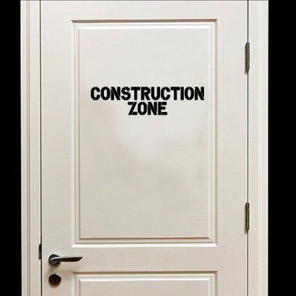 Construction Zone Vinyl Wall Decal  22277 - Cuttin' Up Custom Die Cuts - 1