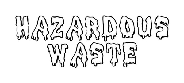 Hazardous Waste Vinyl Wall Decal 22282 - Cuttin' Up Custom Die Cuts - 2