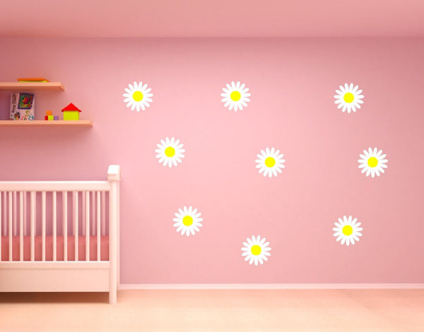 Daisy Flower Vinyl Wall Decal Set of Nine Decals 22281 - Cuttin' Up Custom Die Cuts - 2