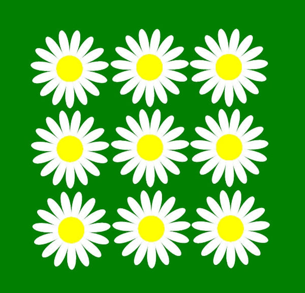 Daisy Flower Vinyl Wall Decal Set of Nine Decals 22281 - Cuttin' Up Custom Die Cuts - 3