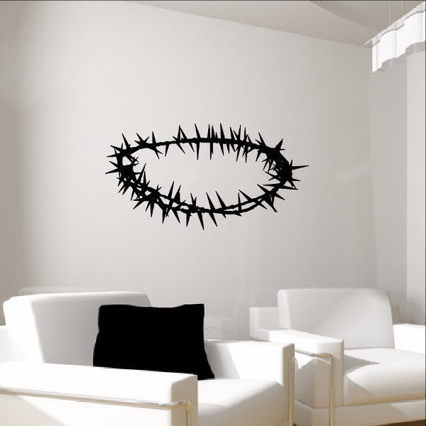 Crown of Thorns Christian Vinyl Wall Decal 22285 - Cuttin' Up Custom Die Cuts - 1