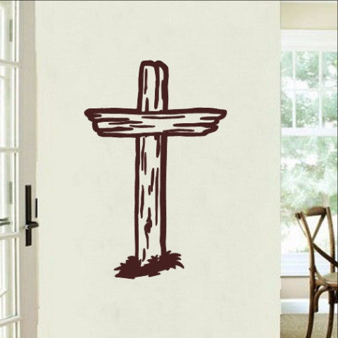 Rugged Cross Christian Vinyl Wall Decal 22287 - Cuttin' Up Custom Die Cuts - 1