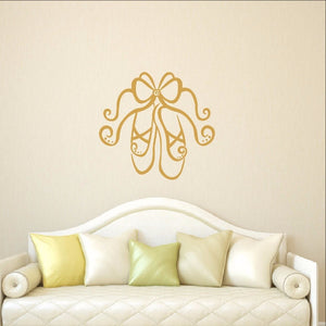 Ballet Slippers Vinyl Wall Decal 22294 - Cuttin' Up Custom Die Cuts - 1