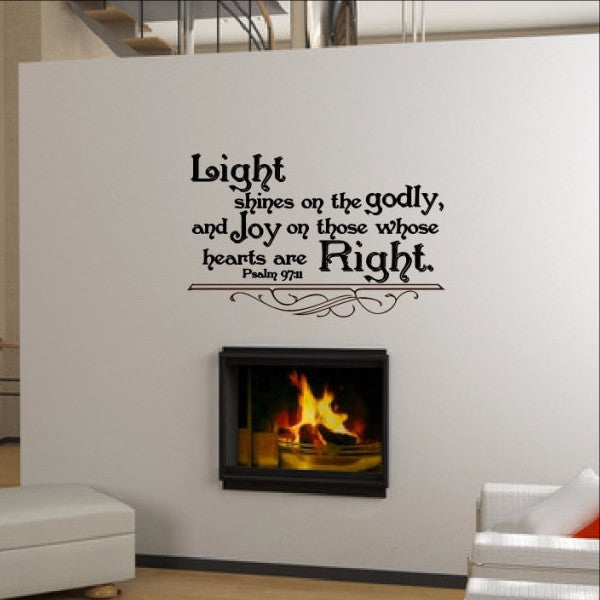 Bible Verse Wall Decals Psalm 97:11 22297 - Cuttin' Up Custom Die Cuts - 1