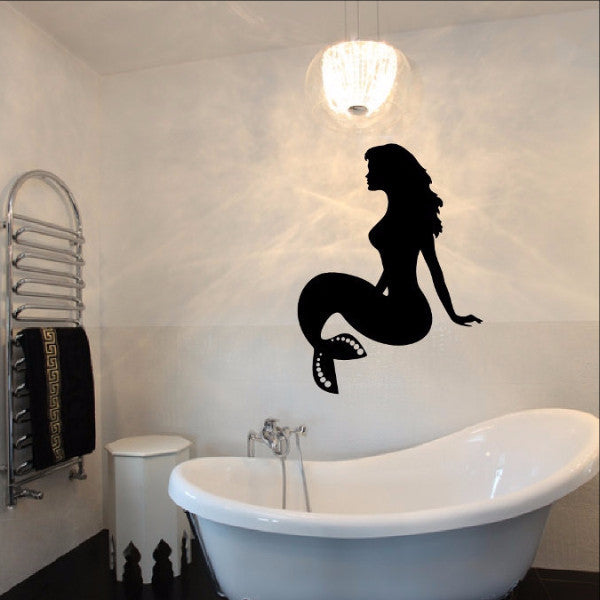 Mermaid Vinyl Wall Decal 22301 - Cuttin' Up Custom Die Cuts - 1