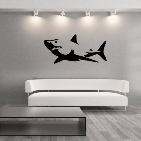 Shark Vinyl Wall Decal 22303 - Cuttin' Up Custom Die Cuts - 1