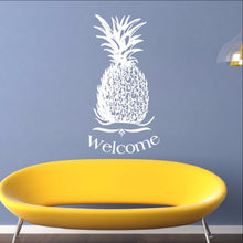 Load image into Gallery viewer, Pineapple Welcome Vinyl Wall Decal 22310 - Cuttin' Up Custom Die Cuts - 1