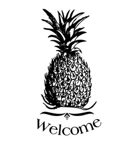 Pineapple Welcome Vinyl Wall Decal 22310 - Cuttin' Up Custom Die Cuts - 2