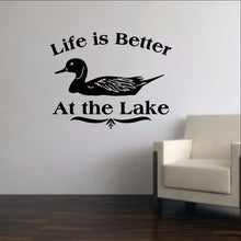 Load image into Gallery viewer, Life is Better at the Lake - Duck Vinyl Wall Decal 22311 - Cuttin' Up Custom Die Cuts - 1