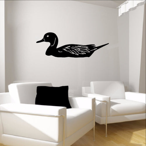 Duck Silhouette Vinyl Wall Decal 22313 - Cuttin' Up Custom Die Cuts - 1
