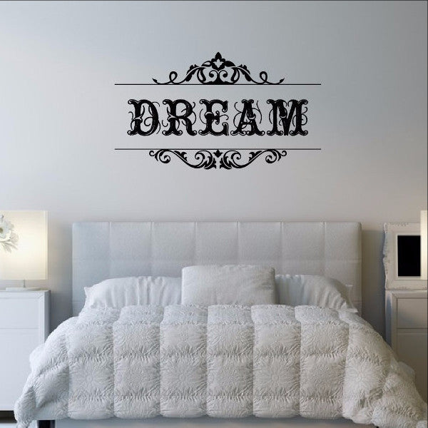 Dream Swirl Vinyl Wall Decal 22319 - Cuttin' Up Custom Die Cuts - 1