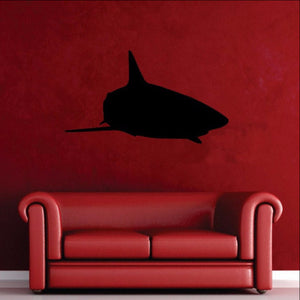 Shark Silhouette Style C Vinyl Wall Decal 22322 - Cuttin' Up Custom Die Cuts - 1