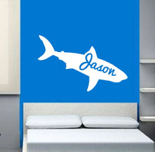 Load image into Gallery viewer, Personalized Shark Vinyl Wall Decal 22325 - Cuttin' Up Custom Die Cuts - 1