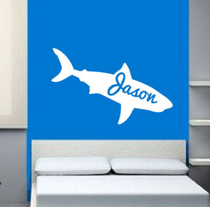 Personalized Shark Vinyl Wall Decal 22325 - Cuttin' Up Custom Die Cuts - 1