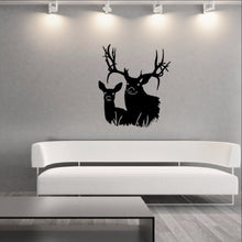 Load image into Gallery viewer, Deer Heads Style J Vinyl Wall Decal 22336 - Cuttin' Up Custom Die Cuts - 1